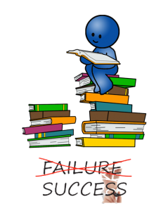 Blue Man On Books
